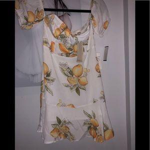 NWT For Love And Lemons lemon dress S